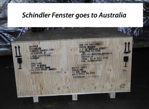 Kunststofffenster von Schindler werden sogar in Australien eingebaut.